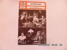 CARTE FICHE CINEMA 1955 LES DIABOLIQUES Simone Signoret Véra Clouzot P.Meurisse