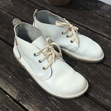 Hand made leather boots by Conker Totnes - white desert boots - 5.5 UK  RRP £175