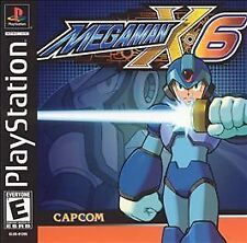 MEGA MAN X6 MEGAMAN X 6 BLACK LABEL PLAYSTATION 1 PS1 BRAND NEW SEALED!
