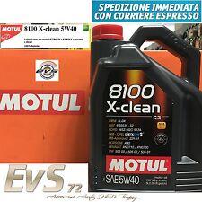 Motul 8100 X-CLEAN 5W40 Olio Motore Auto VW 502-00 505-00 505-01 UFF. ITALIA 5Lt