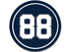 4x4 inch Round # 88 Dez Bryant Sticker -decal cowboys colors number star player