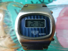 Vintage Swiss HEUER Chronosplit LCD Digital Watch, Rarer Than Omega