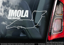 Imola - San Marino F1 Circuit - Car Window Sticker - Formula 1 Track Senna Sign