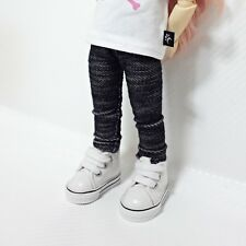 bjd yosd 1/6 doll clothes, leggings two-tone black