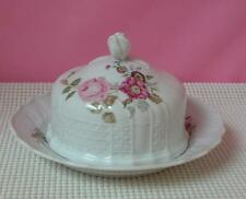 DRESDEN Hutschenreuther COVERED BUTTER DISH China 9560 Floral Sprays Germany