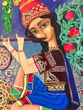 Folk Art Painting SHEPHE/ RAM plays SHVI Music RUSSIAN ARMENIAN Artist DIKRANIAN