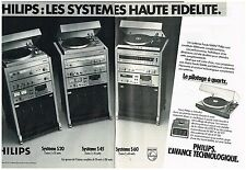 Publicité Advertising 1980 (2 pages) Les Chaines Hi-Fi Philips