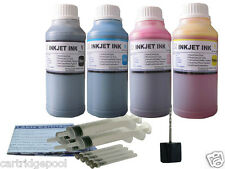 4x250ml Refill ink kit for Lexmark 2/3 16/26 17/27 32/33 34/35 43/44 +Syringes
