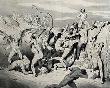 Démons Séducteurs infidèles Dante Alighieri - Enfer Gravure Gustave Doré 186
