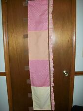 Cocalo Baby window valance Girl yellow pink brown orange 54 x14