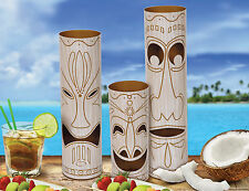 3 x Hawaiian Tiki Totem Pole centrepieces party decorations table Decorations