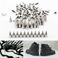 7mm Cone Screwback Metal Studs Leathercraft Rivet Bullet Spikes Spots 100PCS