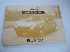 Heft Prospekt Betriebsanleitung Owners Manual -- Fiat Ritmo -- Baujahr 1980