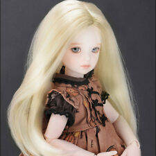 "Dollmore  1/6 BJD Yosd Size (7)""  Parting Long Straight wig (Blonde)"