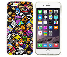 TPU Schutzhüllle f iPhone 6 6S Case Tasche Cover Etui Emoticons Smileys Action