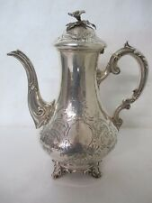 STUNNING 1848 ENGLISH SILVER TEAPOT BY EDWARD, JOHN & WM. BARNARD