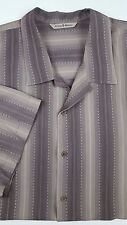 TOMMY Bahama 2XL Silk SHIRT Brown MULTICOLOR Striped MENS Size XXL Beige CASUAL*