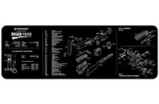 """TekMat Gun Cleaning Mat 12""""x36"""" with Parts Diagram Schematic Ruger 10/22"""