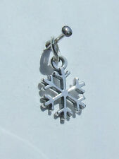 SNOWFLAKE SNOW CHARMS CHARM 925 STERLING SILVER