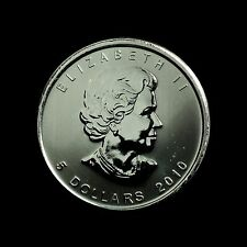 2010 Canadian 1oz Silver Maple Leaf, 5 Dollars, UNC in capsule with COA