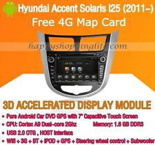Android Car DVD GPS WIFI 3G for Hyundai Accent Solaris i25 Grand Avega Verna
