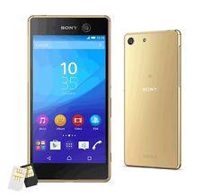 New Sony XPERIA M5 Dual E5663 Octa 21.5MP (FACTORY UNLOCKED) 16GB Gold Phone