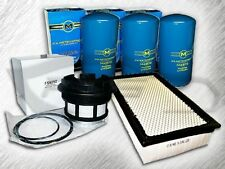 7.3L TURBO DIESEL AIR FILTER 3 OIL FILTERS & 1 FUEL FILTER (W/ CAP) KIT FOR FORD