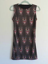 Ferocious Rottweiler Dress - Size 8 10 12 - Bodycon Wiggle Angry Dog Staffy 50s