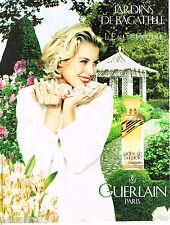 PUBLICITE ADVERTISING 065  1994  GUERLAIN  parfum LES JARDINS DE BAGATELLE