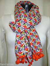 """NEW"" TRANSAT BOUTIQUE CHECHE ECHARPE FOULARD ""KALIYOG"" PAPILLONS COLORES"
