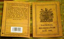 Replica - National Registration Act 1915 - Replica - Great War ID Card - WW1