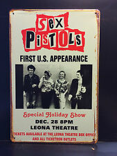 SEX PISTOLS VINTAGE STYLE METAL WALL SIGN  20X30 CM BRITISH PUNK ROCK BAND