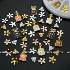 20 Pcs 3 Styles 3D Nail Art Perfume Decoration Alloy/Pearl Jewelry+Wheel SB-109A