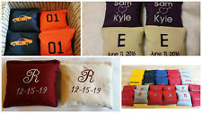 Embroidered Cornhole Bags Personalized Corn hole Wedding Gift Tail Gating