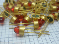 1 x Very Rare Vintage Gold Platted 3mm Led Diode RED Electronic Components 1970s