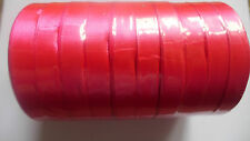 12mm Satin Ribbon x 22 mtr - Gift Wrap Sewing Cake Decoration Favour - UK SELLER