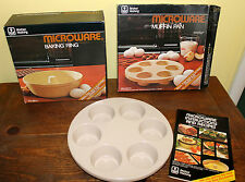 Anchor Hocking Microwave Muffin Pan & Baking Ring Bundt Lot Of 2 W/Instructions