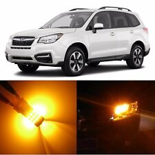 Alla Lighting Front Turn Signal Light 2357NA Amber LED Bulbs for Subaru Tribeca