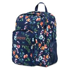 JanSport Big Student Backpack  Navy Floral Backpack Shcool Book Storage Bag  new