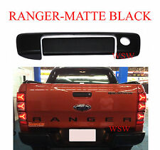 KEYHOLE MATTE BLACK TAILGATE REAR HANDLE COVER USE FOR FORD RANGER T6 PX 2012-16