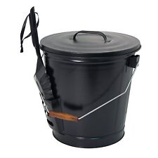 Panacea (15343) Ash Bucket with Shovel, Black [Package Qty 1] 12.5-inch diameter