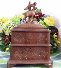 Vintage Black Forest Music box Jewelry box 50 note movement