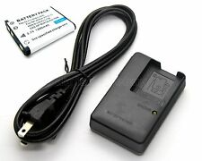 Battery + Charger for Casio Exilim EX-Z26 EX-Z370 EX-Z670 EX-G1 EX-H50 EX-JE10