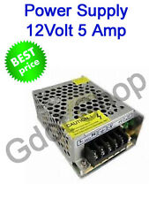 12V 5A 60W WATT DC SMPS POWER SUPPLY For LED Strip Light, Driver CCTV Camera