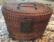 Antique Chinese Wicker Tea Caddy