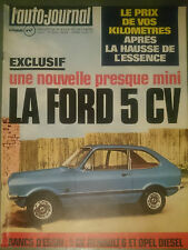 L'AUTO JOURNAL 1974 2 OPEL REKORD 2100 D RENAULT 6 850cc MOTOR HOME GMC BANDAMA