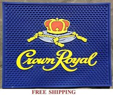 CROWN ROYAL CANADIAN WHISKY WAITSTATION RUBBER SPILL MAT BAR COASTER 14x11 NEW