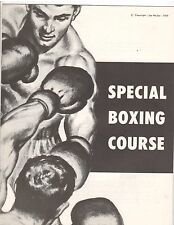 Joe Weider Bodybuilding Special BOXING Course 1959 RARE !