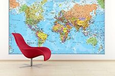 Giant World MegaMap, Large Wall Map - Paper with front sheet lamination
