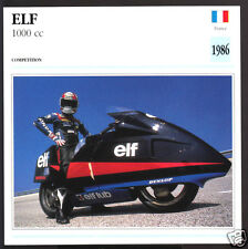 1986 Elf 1000R 1000cc Honda World Speed Records LSR France Motorcycle Photo Card